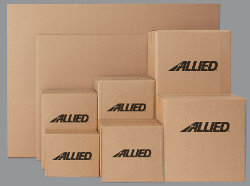 Moving boxes in a wide variety of sizes.