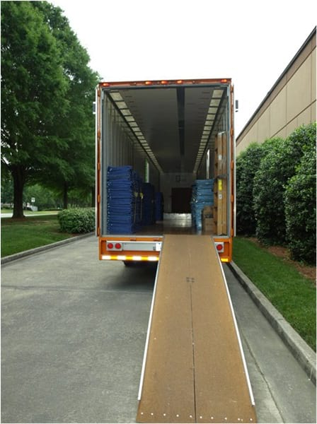Allied Van Lines trailer with ramp board.